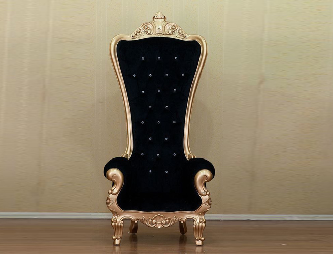 Luxury Solid Wood Gold Carved Sofa Chair